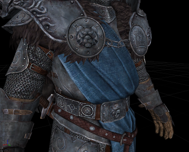 Stormlord Armor and Hevno Dovah - Upscaled Fixed Ported ESL