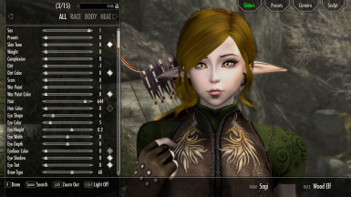 Sagi (Female Wood Elf Racemenu Preset) SE