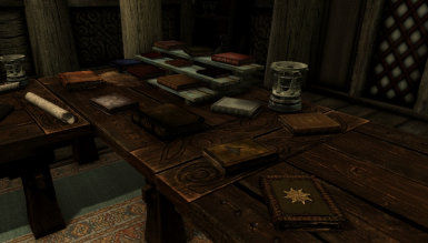 This is an exhibition of almost all books in the mod. The books cannot be found in this location as displayed in the image. It is just for promotional purposes