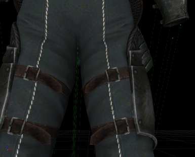 before - pants are compressed and there's no real fabric texture so it looks kinda like plastic