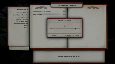 Player Saga, Choose Start Page for Selected Date