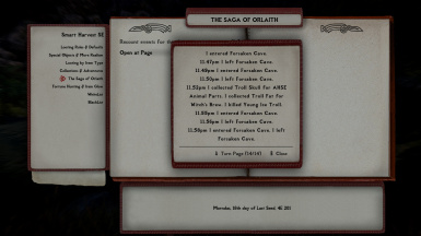 Player Saga, last page for selected day