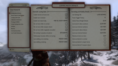 Looting Rules and Defaults