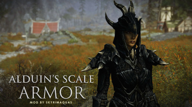 Alduin's Scale - Standalone armor Or Dragonscale Armor 4k retexture