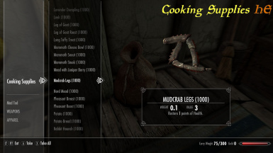 Skyrim Special Edition Crafting Supplies