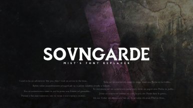 Sovngarde - Mist's Font Replacer