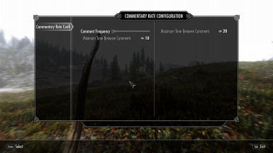 Configurable Commentary Rate Slider