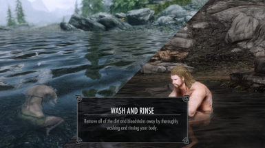 There's also the option of washing yourself thoroughly, which gives you a small speech bonus