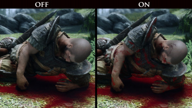 BLOOD AND DIRT OFF/ON - Both images are with the full version of Enhanced Blood Textures
