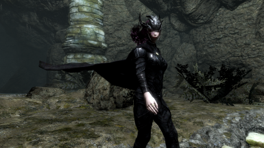 Nightingale Armor Replacer Cape HDT-SMP (Female CBBE) and Male (RUS)
