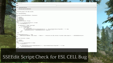 SSEEdit Script - Check for ESL CELL Bug