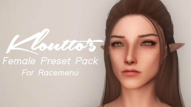 Kloutto's Female Preset Pack
