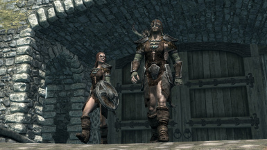The Huntresses be strollin' into town. What will they do? (OLDRIM SCREENSHOT)