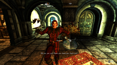 Cicero will even dance in his joy before he hugs you. LE screeshot.
