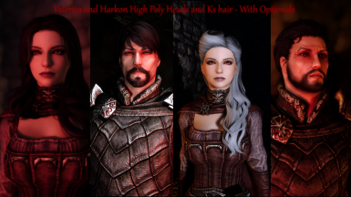 Valerica and Harkon High Poly Heads and Ks Hair - Esl - With Alternate Options