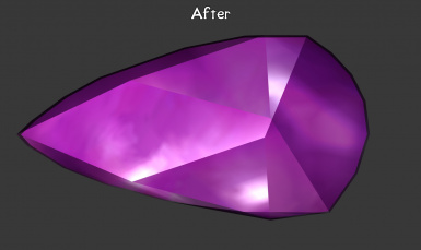 Created a Gem new texture instead of upscaling