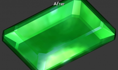 Created a new Gem texture instead of upscaling