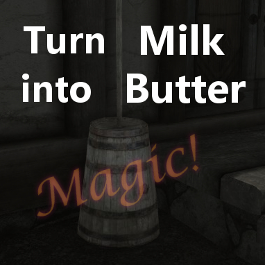 Usable Butter Churns and milkable cows