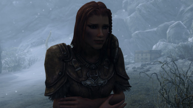 When cold, your character will look cold and their lips will shiver