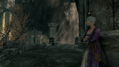 Shirley resting in Markarth