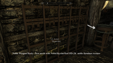 Noble Weapon Rack   New mesh with NobleSkyrimMod HD 2K noble furniture texture