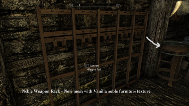 Noble Weapon Rack   New mesh with Vanilla Noble Furniture texture