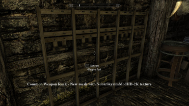 Common Weapon Rack   New mesh with NobleSkyrimModHD 2K texture