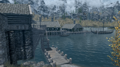 Fast Travel to Heartwood Castle Jetty (View from Riften Stables)