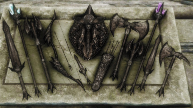 Daedric Light Weapons- Mihail Weapons and Shields (MIHAIL SSE PORT)