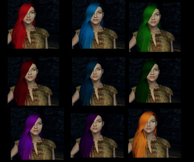 Extra Hair Colors for Vanilla Races (No longer being worked on)
