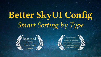 Better SkyUI Config - Smart sorting by type