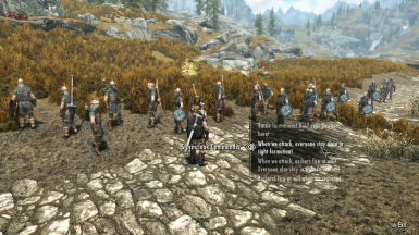 Commanding an Army of Stormcloaks