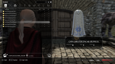 Cloaks of Lace for Lady SSE Spanish