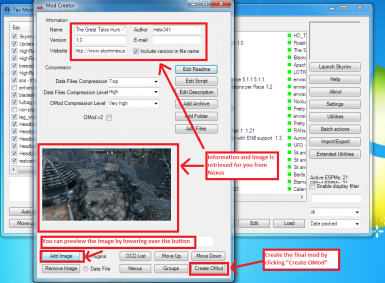 Importing a mod from a file - Step 4