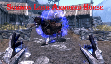 summon Long armored horse