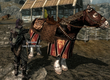 Long armored horse