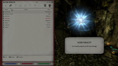 nord race passive, see other races passives in descriptions