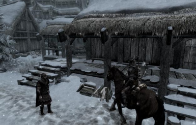 No Snow Under The Roof At Skyrim Special Edition Nexus