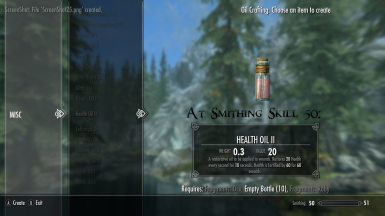 Health Oil II At Smithing Skill 50