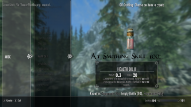 Health Oil II At Smithing Skill 100