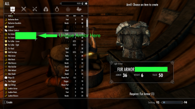 Making unique armor at Forges