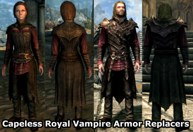 Capeless Royal Vampire Armor Replacers