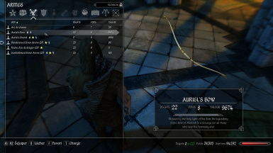 Auriels Bow description