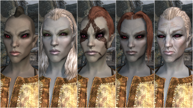 Female Dark Elf Presets