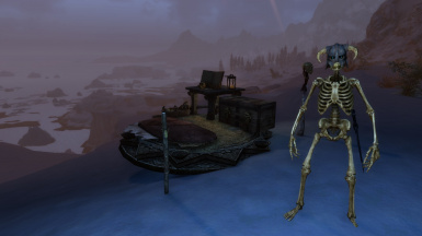 Conjured Study Table and Skeleton Guard