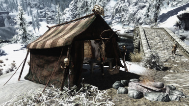 Tent with Table - Bone Basket by Lolicept Resources