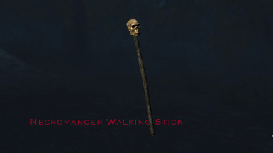 Necromancer Walking Stick