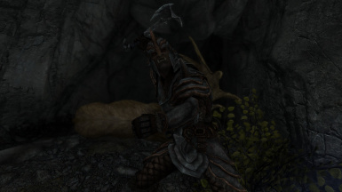 Orc hunter in iron orcish armor with a steel orcish handaxe