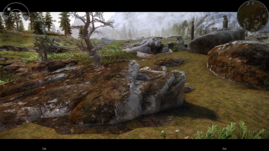 with Dave's UFHD Mountains and Tamrielic Textures
