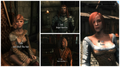 Apachii haircuts for unique NPCs in Skyrim